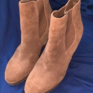 Michael Kors Shoes - Michael Kors MK Suede Wedge Boots Ankle Booties